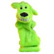 Игрушка для собак Loofa Собака полая большая - общий вид, зеленая