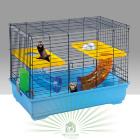 Клетка для грызунов FERRET FLAT синяя/желтая
