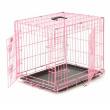 Клетка для собак Axsel Fox №3 - общий вид, розовая