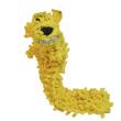 Игрушка для собак Loofa Собака мохнатая полая средняя - общий вид, желтая